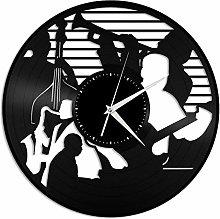 Jazz vinyl wall clock, vinyl record home