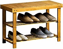 JB-XJ Small Shoe Rack Wooden Simple Shoe Rack
