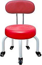 JBTM Wheel Stool Round Bench Sofa Pedicure Seat,
