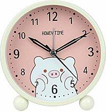 JBVG Simple Design Alarm Clock Mini Cartoon Pig