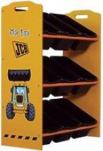 JCB Yellow Children's Digger 9 Bin Storage Unit