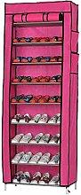 JCNHXD 10 Layer 9 Grid Shoe Rack Shelf Storage