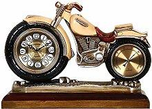 JCXOZ Motorcycle Table Clock - Mantle Clocks for