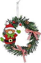 JCYANG Christmas Wreaths 1pcs Mini Christmas