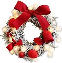 JCYANG Christmas Wreaths 30CM Christmas Artificial