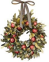 JCYANG Christmas Wreaths Artificial Wreath Green