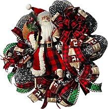 JCYANG Christmas Wreaths Chrisrmas Wreaths Santa