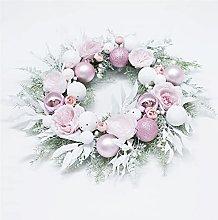 JCYANG Christmas Wreaths Christmas Wreath Pink