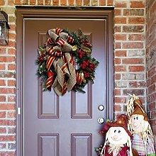 JCYANG Christmas Wreaths Christmas Wreath Window