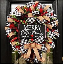 JCYANG Christmas Wreaths Creative Christmas Door