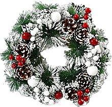 JCYANG Christmas Wreaths Happy New Year 32CM