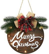 JCYANG Christmas Wreaths Merry Christmas