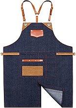 JDJD Adjustable Bib Aprons Denim Wear Resistant