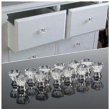 JDJD Kitchen Door Handles 12pcs 30mm Diamond Shape