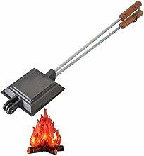 JDKC- Iron Sandwich Cooker Solid Cast Iron Waffle