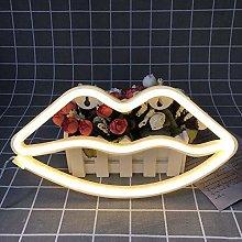 JDKC- LED Lip Neon Light Cute Neon Lip Sign Room