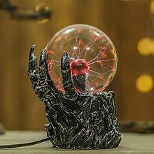 JDKC- Plasma Globe Lamp with Skull Hand Holder,