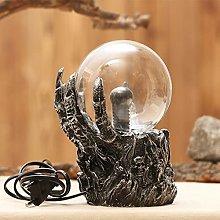 JDKC- Plasma Globe Light with Skull Base Touch