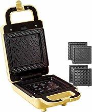 JDKC- Sandwich Toaster, 2-in-1 Waffle Maker,