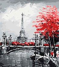 JDSHFJ Diy Canvas Oil Painting Kit The Diy Oil