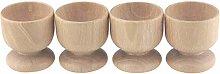 JDV 4/10Pcs Wooden Egg Cups Set Xmas Art Crafts