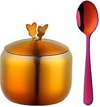 JDV Kitchen Stainless Steel Gold Seasoning Pot