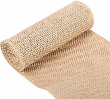 Jeanoko Hessian Table Runner jute table runner for
