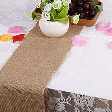 Jeanoko jute table runner Nature Burlap Table