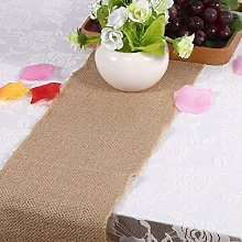 Jeanoko jute table runner Party Table Runner for