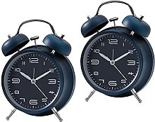 JeeKoudy 2pcs Wind Up Mechnical Alarm Clock