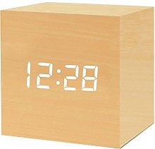 JeeKoudy Wooden Alarm Clock,Wooden Alarm Clock For