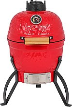 jeerbly 13in Round Ceramic Charcoal BBQ Grill