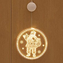 jeerbly 3D LED Christmas Hanging Lamps Xmas