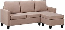 jeerbly Double Chaise Longue Combination Sofa for
