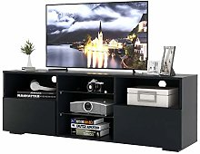 jeerbly LED TV Stand Modern TV Unit, 130cm Cabinet