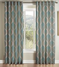 Jeff Banks Cyrus Teal Lined Rmc Curtain 168 cm x