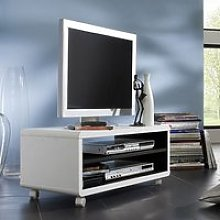 Jeff7 Lowboard LCD TV Stand In White And Black