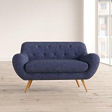 Jefferson 2 Seater Loveseat Hykkon Upholstery: