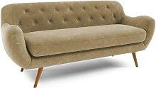 Jefferson 3 Seater Sofa Hykkon Upholstery: Beige