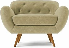 Jefferson Arm Chair Hykkon Upholstery: Beige