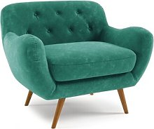 Jefferson Arm Chair Hykkon Upholstery: Emerald