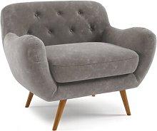 Jefferson Arm Chair Hykkon Upholstery: Grey