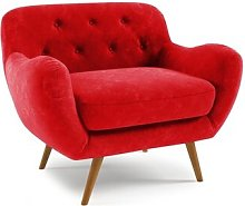 Jefferson Arm Chair Hykkon Upholstery: Red