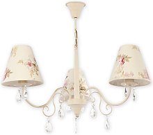 Jeffrey 3-Light Shaded Chandelier Lily Manor Shade