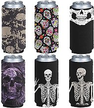 Jeiento Cool Skull Can Sleeves,Insulated Beer Can