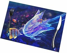 Jellyfish and Clownfish Exquisite Placemats