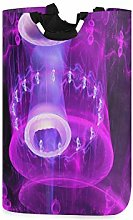 Jellyfish Purple Light Art Laundry Hamper Basket