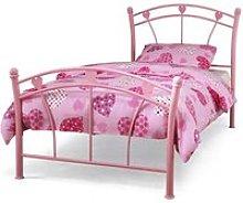 Jemima Metal Single Bed In Pink