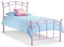 Jemima Pink Metal Bed