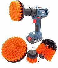 JenLn 4 Pack Drill Brush Power Scrubber Cleaning